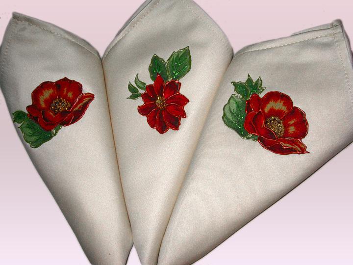 juego de mantel y servilletas con bordado lquido para toda ocasin