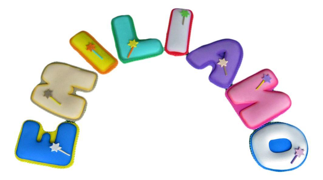 Terearte nombres en foamy termoformado para decorar el - Letras para habitaciones infantiles ...