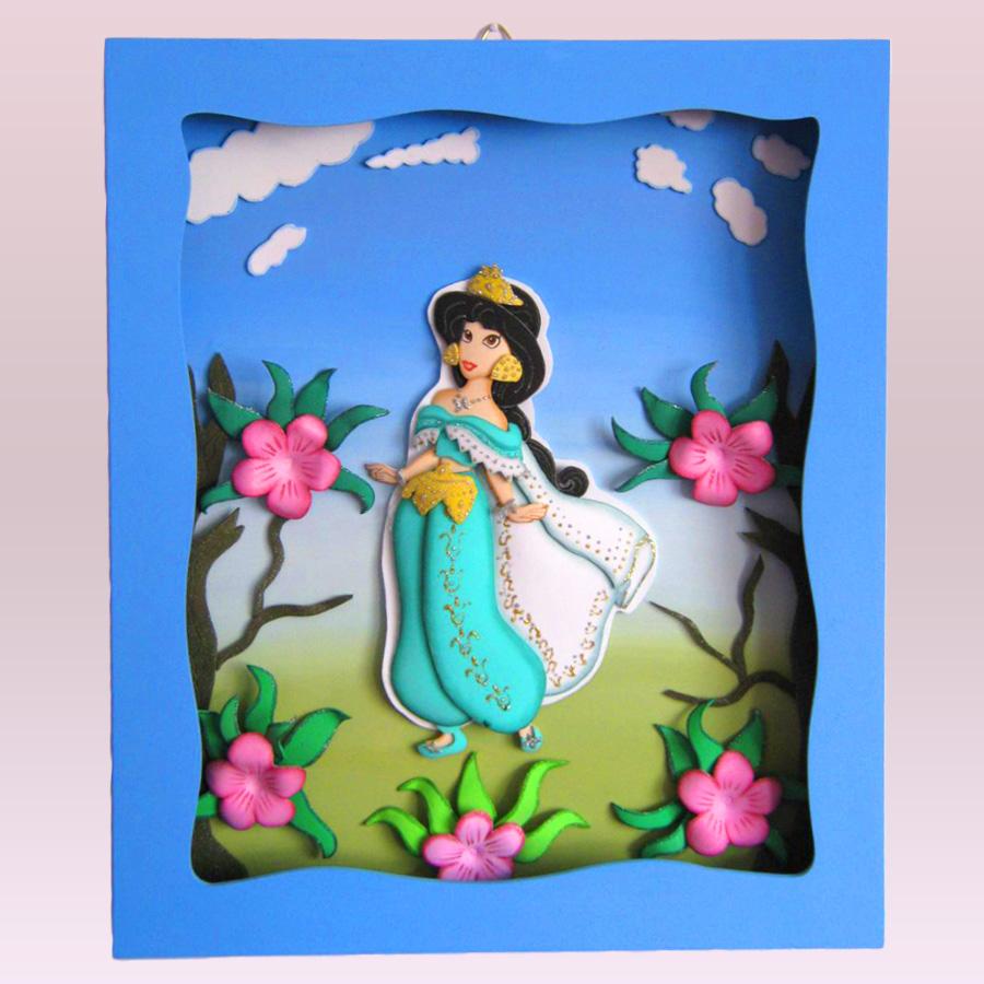 Terearte cuadro princesa jasm n para adornar el cuarto - Cuadros para habitacion de ninos ...
