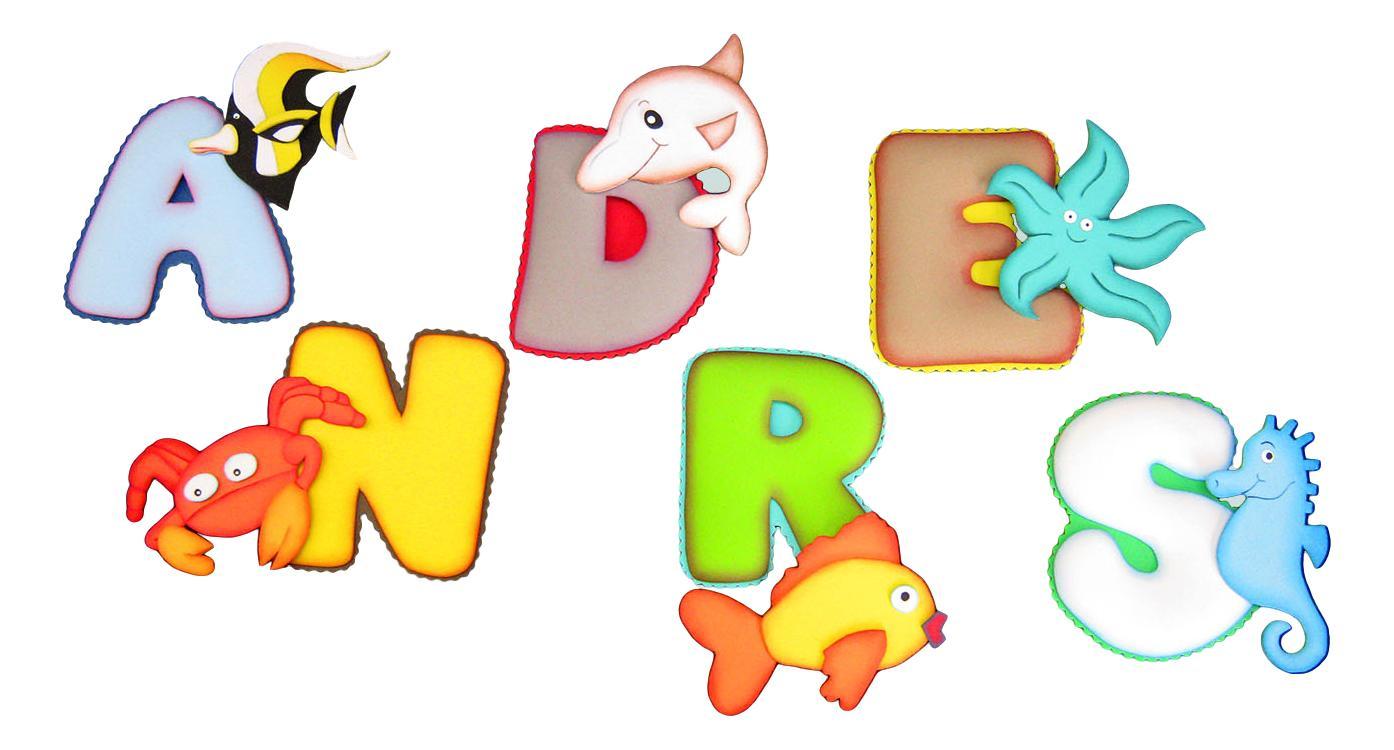 Terearte letras termoformadas con motivos infantiles - Motivos infantiles para decorar ...