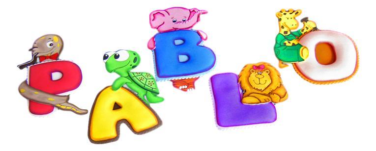 Terearte letras termoformadas con motivos infantiles - Literas pequenas para ninos ...