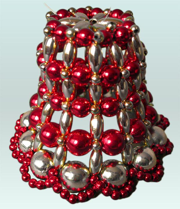 campanas en perlas decorativas para el rbol de navidad