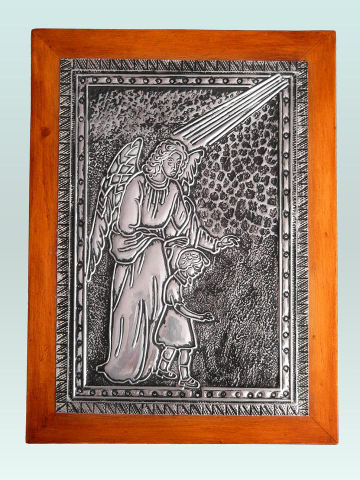 TereArte | Cuadro del ángel de la guarda en arte ruso con marco de ...