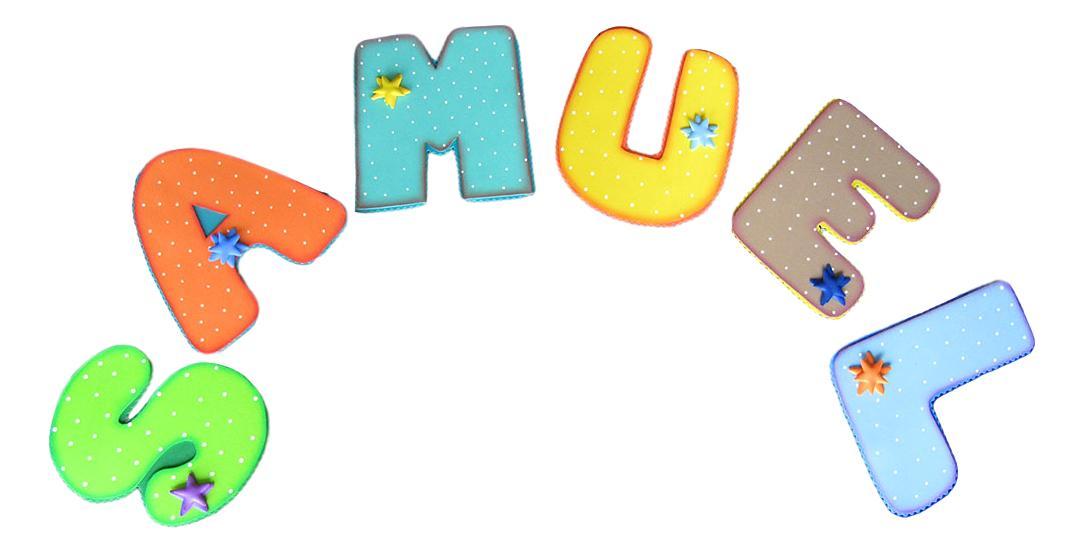 Terearte letras en foamy para decorar el cuarto del beb - Letras para decorar habitacion infantil ...