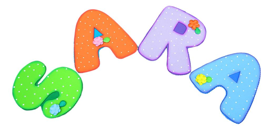 Terearte letras en foamy para decorar el cuarto del beb - Letras bebe decoracion ...