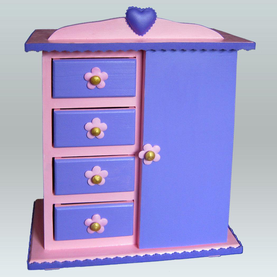 Terearte joyero en forma de armario para el cuarto de for Roperos para cuartos de ninas